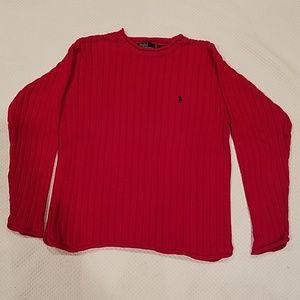 Red cotton sweater by Ralph Lauren